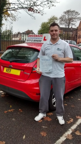 Well done Mart Passed your driving test first time today with only 2 minor faults All the best for the future mate Drive Safe
