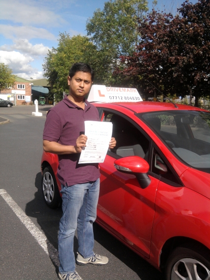 Well done for passing your driving test with probably one of Worcesters strictest examiners Great result and drive safe