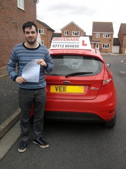Well done Jules passed with only 2 minor faults All the best for the future mate and drive safe