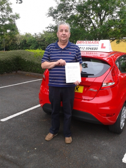 Congratulations Rob Passed your driving test first time today Just goes to prove your never to old to learn something new Well done mate Drive Safe