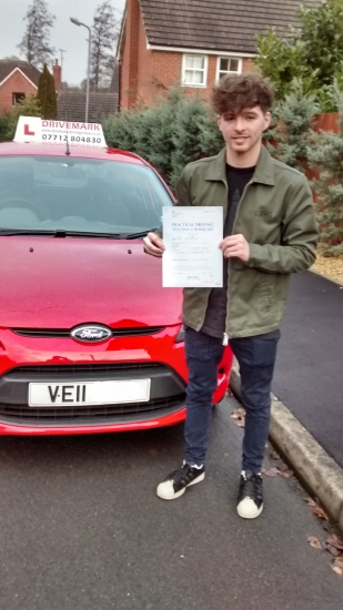Well done Max Passed your driving test first attempt today Be careful out there Drive Safe