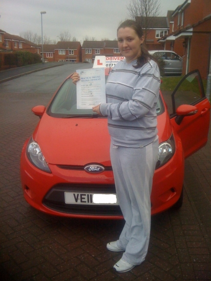 Congratulations Lynne A first time pass in the pouring rain with the strictest driving examiner in Worcester I look forward to seeing you out and about in your new MG Rover Well done Drive Safe