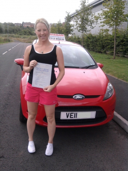 Well done Teresa Passed your driving test first time with only 4 minor faults Good luck with your new job and drive safe
