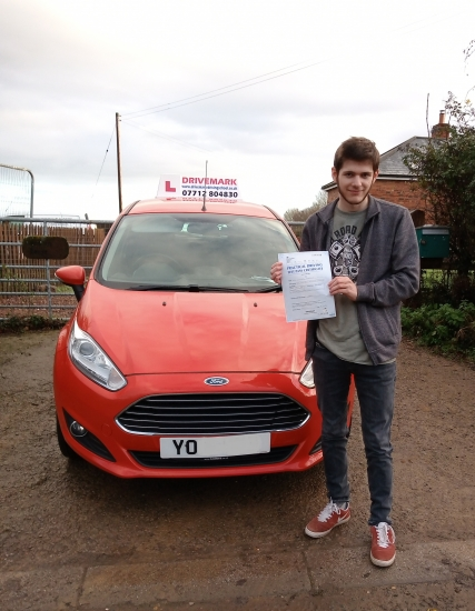 Well done Connor passed your driving test first time today. A well deserved pass and just in time for Christmas. You´ve been a great pupil to teach. Take care mate.. Drive Safe!