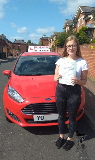 Congratulations Ellie. Passed your driving test first time today with only 4 minor faults. A well earned result. All the best in your new job.. Drive Safe!