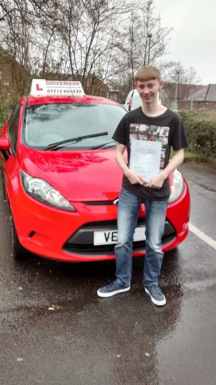 Well done John Passed your driving test first attempt today in the pouring rain and with only 3 minor faults Great result Drive Safe