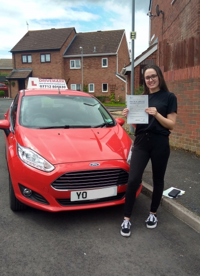 Congratulations Keely. Passed your driving test first time today with only 3 minor faults, you stuck with it and got there in the end. Told you that you´d do it. Great Result. Drive safe!