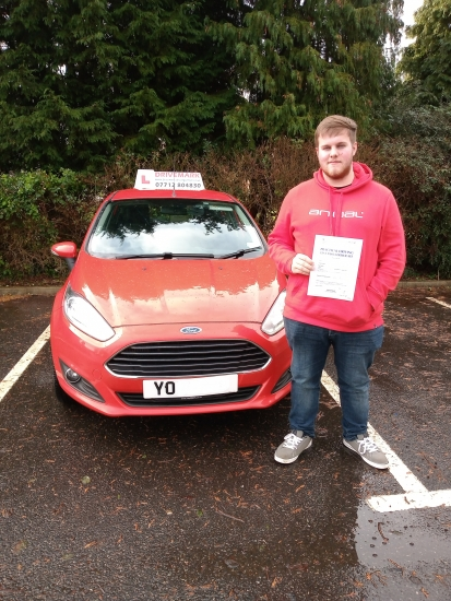 Well done Noah passed your driving test today with flying colours. Told you all of your hard work would pay off. Great result. Drive Safe!