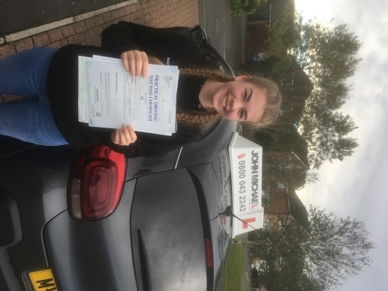 Wow another 1st time pass!! Robyn Stobbart this time with only 2 driving faults!!