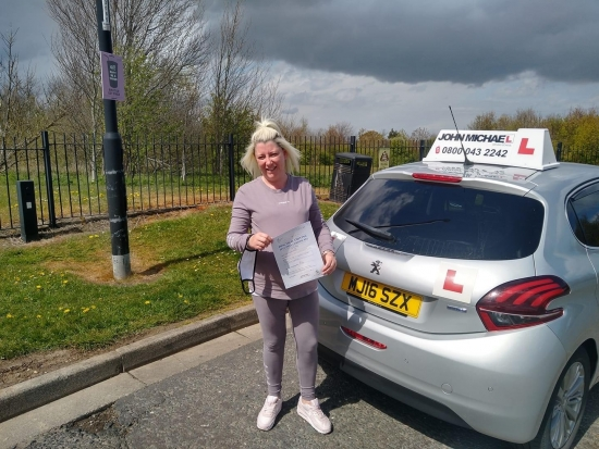 Brilliant  drive from Claire Robinson today! She's just passed her test, at Sunderland, beating all her nerves, with our instructor Graham Spensley 💪🏻<br /> Well done, stay safe and good luck with the Bady.