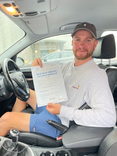 Great drive from Paddy Maddison today, he's just passed 1st time @ Gosforth With our instructor Rob Stephenson and only  3minors! Well done Paddy!