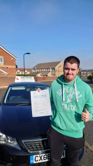 Great drive from Jack kirkley today, he's just passed his test FIRST TIME with our instructor Rob Stephen at blyth!