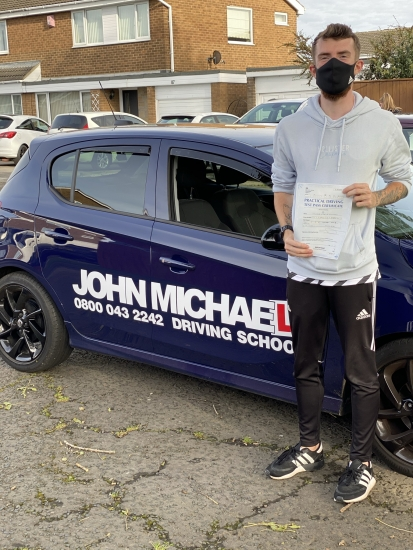 Amazing driving from Connor Jackson today, he's just passed his driving test at the first attempt with only 3 minors with me today, well done Connor 💪�