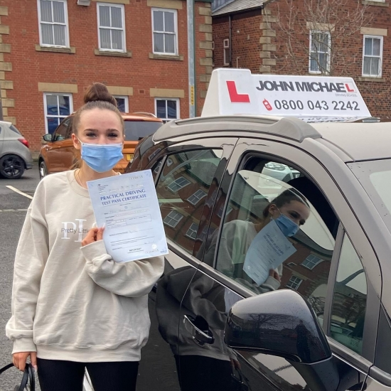 WELL DONE Holly Johnson! Nice early Christmas present! She Passed her driving test today with only few minor driving faults! Holly passed with our instructor Dave sproat!