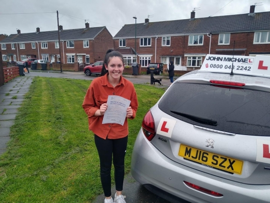 What a fantastic day for<br /> Harli Adamson today, beat the nerves and came back to pass with ZERO driving faults, with her instructor Graham Spensley.<br /> Brilliant drive Harli, keep it up, good luck to the future