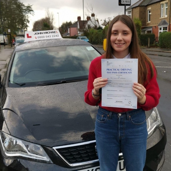 Amazing driving from Jessica! She's just smashed her driving test with her DAD! Our very own pass master Rob Stephenson! Jessica passed first time with only 1 minor! Well done Jessica ��