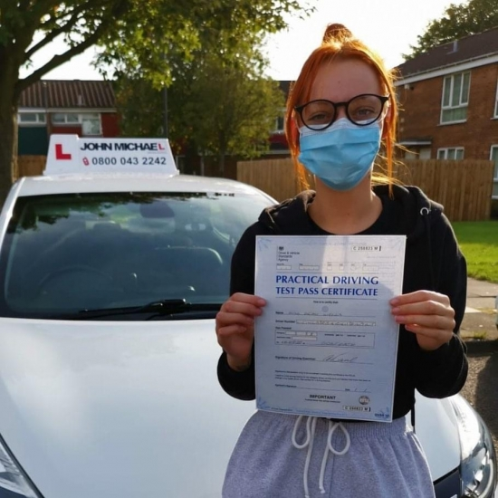 Great drive from Demi Lee Wells today, she's just passed Gosforth 1st time with her instructor Rob and only 5 minors!