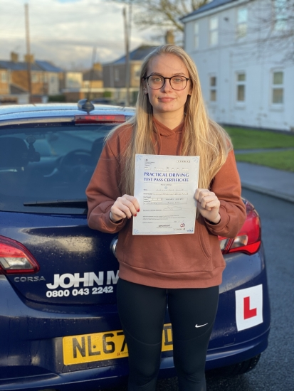 Wow! Another first time pass today!! This time, Livia Shanks passed first time with only 1 Minor at blyth with me! Well done livia  💪�