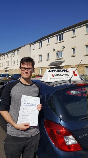 Well done Jonathan Edgar Yet another 1st time pass for our driving school Passed at Blyth with his instructor Paul Whitfield today Want to be next Call 0800 043 2242 or visit johnmichaeldriving