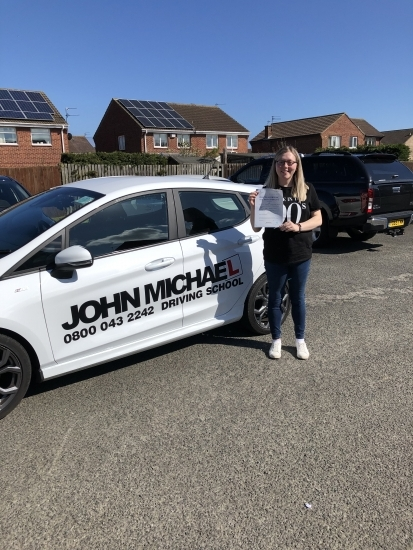 10/04/2019 Congratulations to Megan Newell on passing her test at the first attempt today with me John 😀😀 and only 3 minors!!