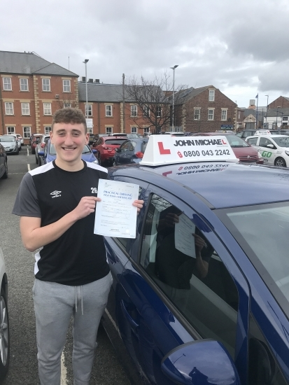 Well done Owen Herworth!! He's just passed today at Blyth with his instructor Dave and only 3 minor driving faults!!