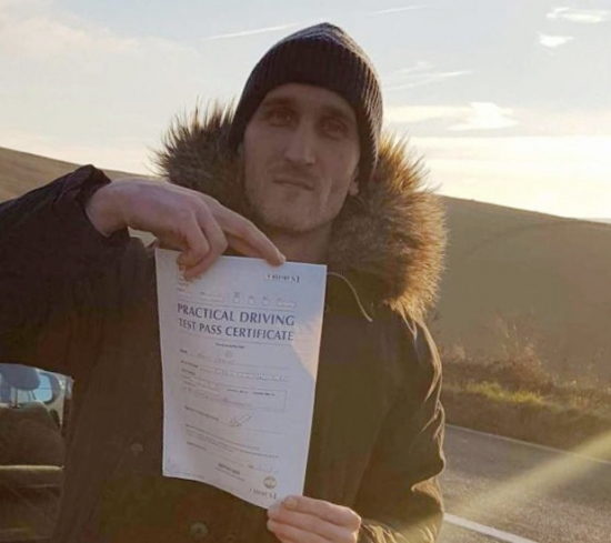 Congratulations to Norbet on passing his practical driving test first time with only three minor faults