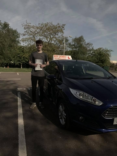 Great safe driving Adam Brilliant first time pass! 14th May 2019 at Derby Test Centre