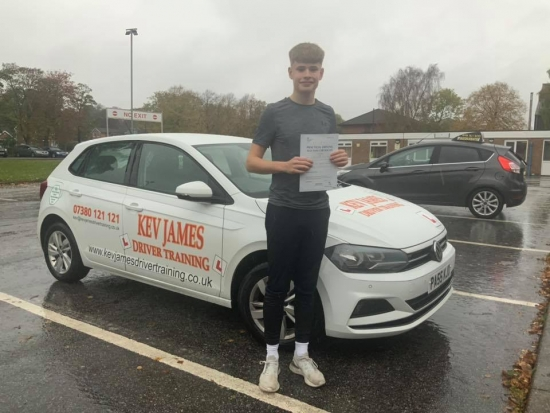 Well Done Chris 25th October 2019 at Chilwell Test Centre