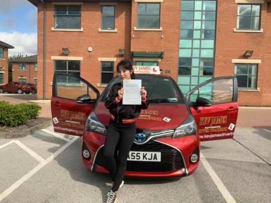 Well Done Chen passing your Automatic Driving Test first attempt19th August 2019 at Chilwell Test Centre