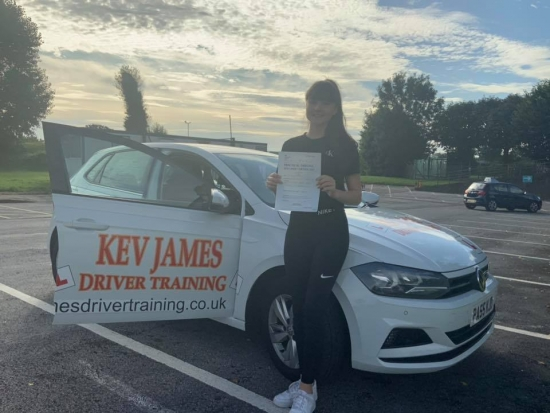 Brilliant result Well Done Ella. 28th August 2019 at Watnall Test Centre.