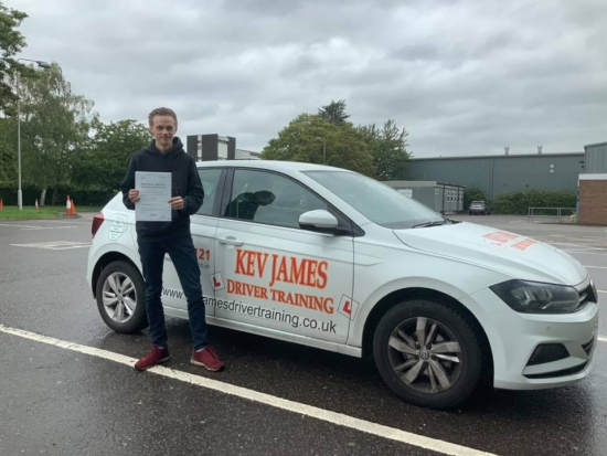 Great Drive Harrrison. Well done! 16th August 2019 at Derby Test Centre.