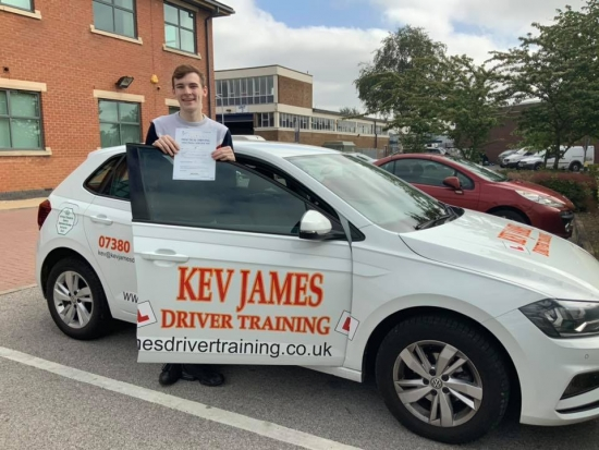 Brilliant result Harry Zero Faults!! 28th June 2019 at Chilwell Test Centre