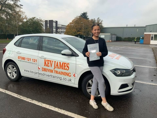 Well Done Izzy. 24th October 2019 at Derby Test Centre