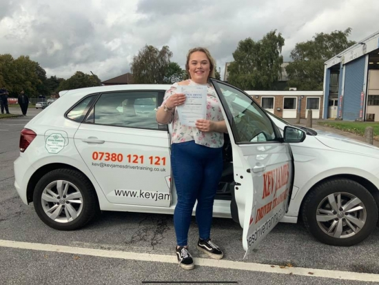 Well Done Millie. 27th September 2019 at Watnall Test Centre