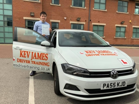 Well done Patrick 5th June 2019 at Chilwell Test Centre