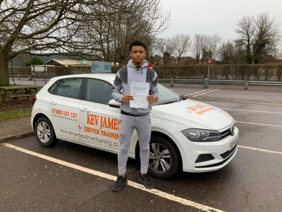 Congratulations Seb. Well Done! 15th January 2020 at Derby Test Centre
