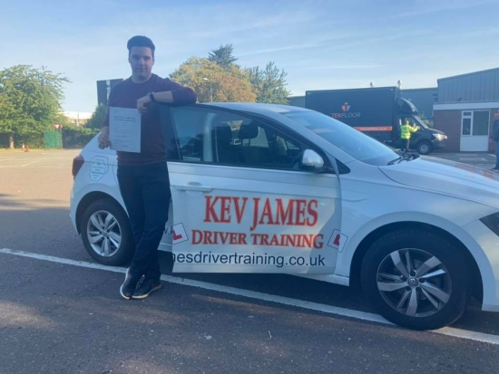 Good safe drive Will, Well Done!20th September 2019 at Derby Test Centre