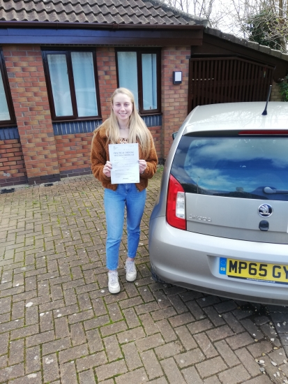 Many congratulations to Louise Partridge of Wrington on a really nice drive and well deserved pass in Weston-super-Mare on 26th February