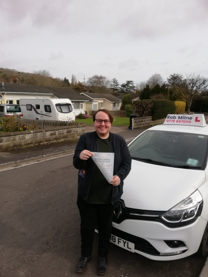 Many congratulations to a very happy Jackson Leavey of Clevedon on an excellent drive and well deserved 1st time pass at Weston-super-Mare on March 9th.