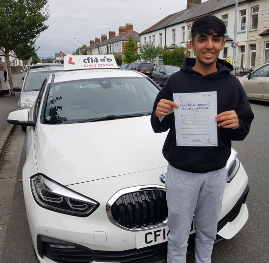 *** Many Congratulations To Ali, Passing In Cardiff Today On His First Attempt With Just 18Hrs Of Driving Lessons! Fantastic Student -  A Hard Test Route, And A ´Real´ Emergency Stop To Deal With. <br /> <br /> Drive Safely, Keep Up With The Boxing, And Enjoy That New Car When It Eventually Arrives! ***
