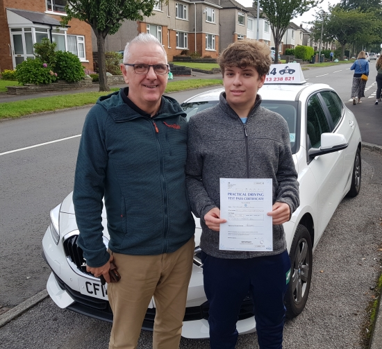 Many Congratulations To Ed, Shown Here With His Proud Dad, Passing On His First Attempt With Just 4 DF. Fantastic Day, Even Had To Miss A Bit Of Business Studies From School To Take Test, But I´m Sure Your Teacher All Agree, PASSING mAKES gOOD bUSINESS seNSE!Best Wishes Barry 🏎 😎👍