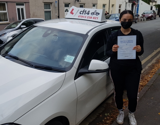 *** Yet Another Terrific Day With Nefisah Passing On Her First Attempt Today In Cardiff - Being A Little Shy Keeping Her Mask On, But None The Less, One Big Happy Smile Hiding Behind It! Drive Safely, And Ask Your Husband To Buy You A New Car! 🏎 ***<br /> <br /> Take Care Barry x 😎