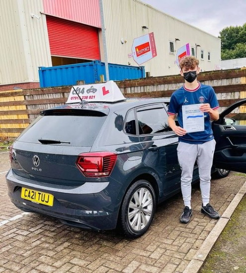 And absolutely smashing it this morning again with Harry Evans-Fisher in Cardiff tc where we collected another first time pass. <br /> I'm super delighted for this nice young man who will be a nice and I believe safe addition to the driving world, car is waiting on the drive, just get it insured and off you go wherever you want mate. <br /> It's has been a pleasure, lessons has been very easy with you,