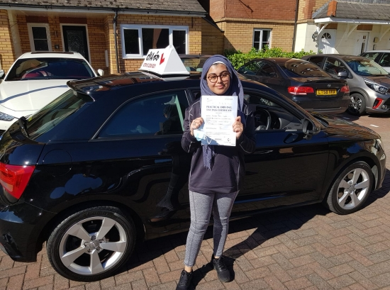 *** Many Congratulations Amirah, Passing Today Without Telling Any Of Your Friends!<br /> Tomorrow Time To Drive To School And Suprise All Of Them - Haha.<br /> Fantastic Effort, Well Done From All Of Us Here At cf14 School Of Motoring 😎 ***
