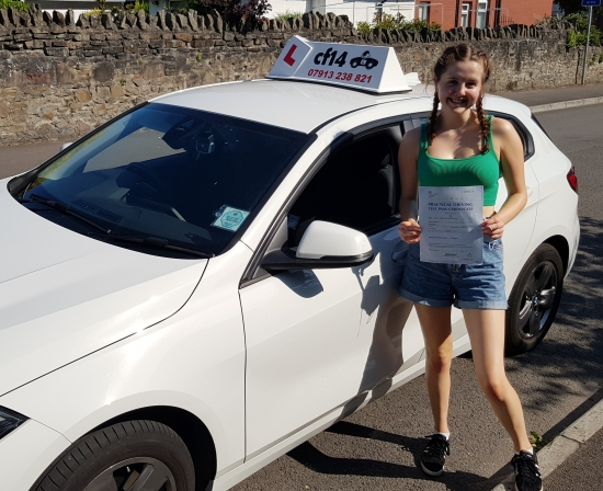 *** FANTASTIC! Well Done Cerys, Passing In Cardiff Today With Just 3 Minors. Fab Student, Will Miss Our Chats - But I Know You Will Enjoy Uni And Can Now Concentrate On That - Phew...👍<br /> Enjoy Your Car & Dont Forget To Send Me A Picture Of You Driving Around. WELL DONE YOU! 😎 ***
