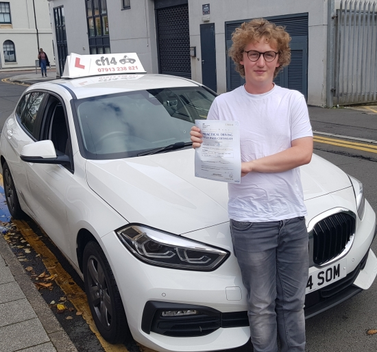 Well Done George, Passing In Cardiff Today On Your First Attempt – Despite Not Knowing Where The Engine Coolant Goes! <br /> Lucky You Had 1 Other Minor Giving You 2 Minors In Total As You Were So Close To A Clean Sheet Otherwise You Would Never Live That Down. Great Drive Again, Look After The Car You Have Just Bought, Keep Shopping To Get The Insurance As Low As Possible, And Remember To Keep To Th