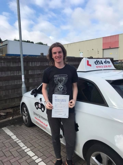 Congratulations Joseph on your 1st attempt pass in cardiff today - drive safe x