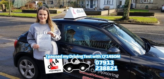 Many Congratulations To Marged, Passing In Cardiff Today With Just 3 Driving Faults! Fab Student, Great Drive - See You On The Road In Your Car Very Soon! Take Care Drive Safely Barry x 😎
