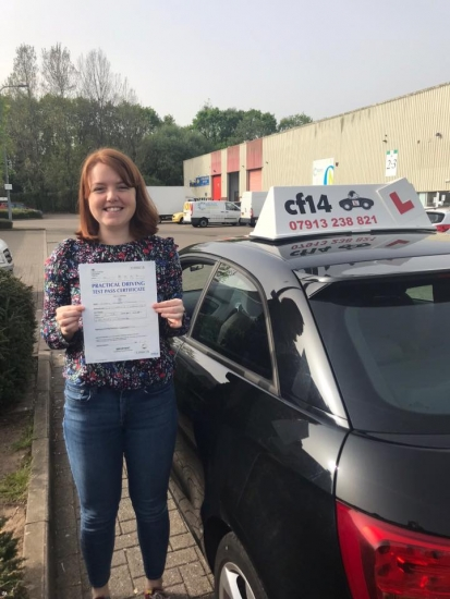 Congratulations Mary on your practical driving test pass in Cardiff today - now you can go totally freelance and not have to pay for a driver 🚗😁- happy car hunting Rebekah xx