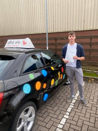 Congratulations to Matthew passing his practical driving test in cardiff on his first attempt with only 1 fault today - absolute pleasure to teach and hope you enjoy driving to college now Rebekah x